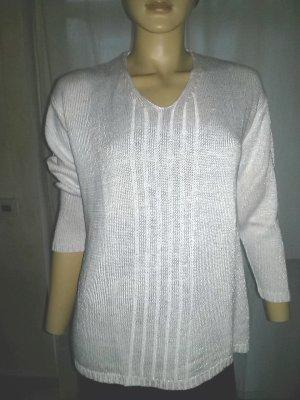 Pullover von Avitano - weisses Perlgarn - Gr. M