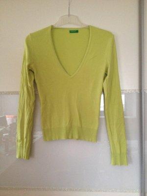 Pullover von Benetton in limettengrün Größe S