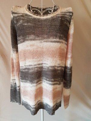 Pullover von Benotti Gr 40/42 grau/rosa/weiß