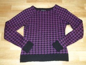 Pullover von Bodyflirt in Gr. 34 lila schwarz