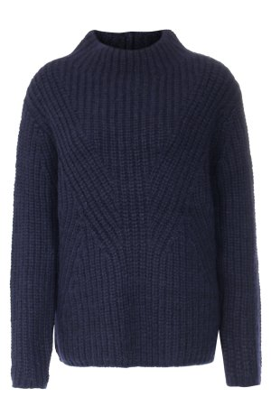 Closed Coarse Knitted Sweater dark blue