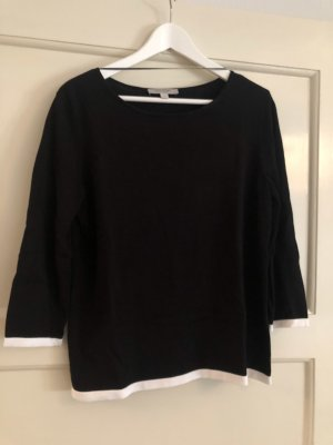 Comma Knitted Sweater black-white