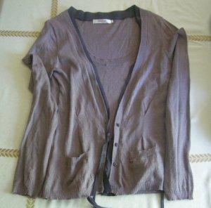 Pullover von Comptoir des Cotonniers, Größe L, braun/ grau, Kaschmir, Baumwolle