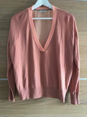 Pullover von edc, apricot, Rückseite halbtransparent