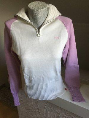 Pullover von EDC, weiß- Flieder, top Zustand