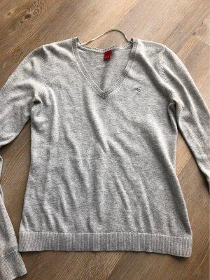 65d4a4c9c8 Esprit Maglione con scollo a V grigio chiaro