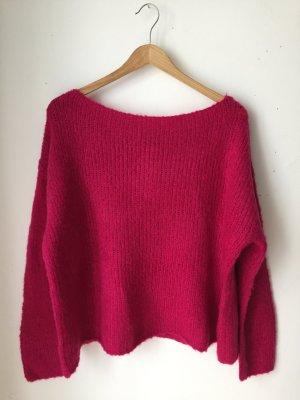 Forever 21 Oversized Sweater magenta