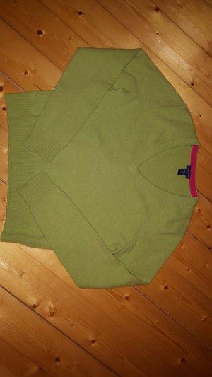 Gant V-Neck Sweater grass green
