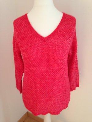 Gerry Weber Pullover a maglia grossa rosso lampone Cotone