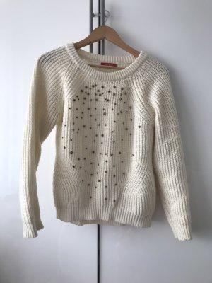 Guess Kraagloze sweater wolwit