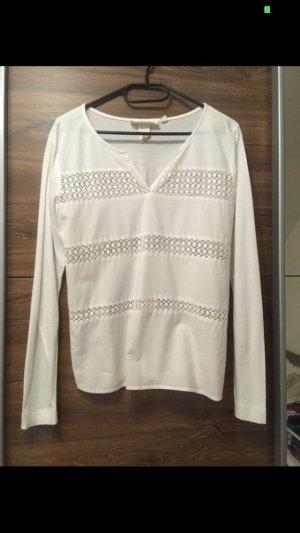 H&M Pull col en V blanc