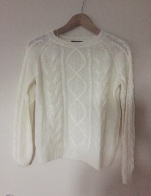 H&M Cable Sweater natural white-white