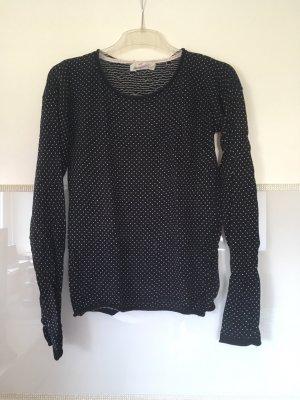 Pullover von H&M in dunkelblau mit weißem Muster Größe XS