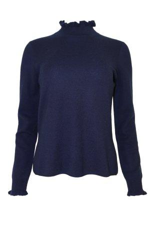 Pullover von Herzensangelegenheit mit Stehkragen, marine, 40