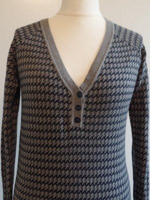 Pullover von Mango, grau/blau, Hahnentritt, Gr. L