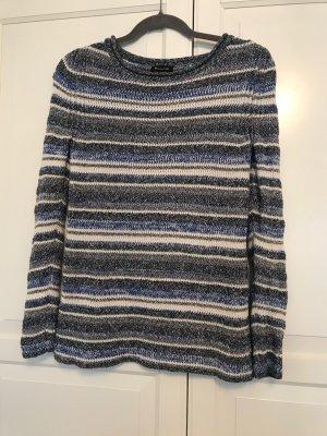 Pullover von Massimo Dutti / blau-weiß gemustert / XS / wie neu (1x getragen)