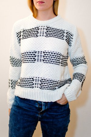 Mint&berry Knitted Sweater white-black