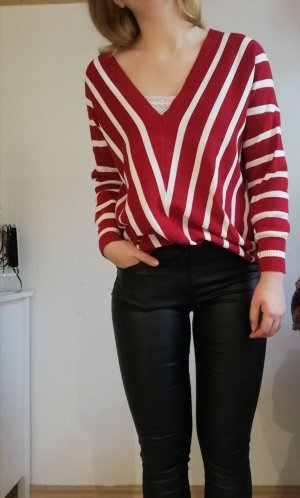 Only Pull oversize rouge foncé