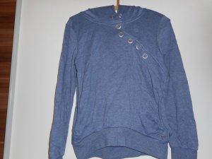 Pullover von Only on Größe XS, blau, mit Kapuze, Druckknöpfe