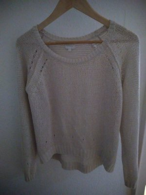 Opus Crochet Sweater natural white cotton