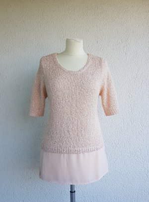 Orsay Pull à manches courtes rosé-rose clair tissu mixte