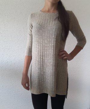 Sweater met korte mouwen beige