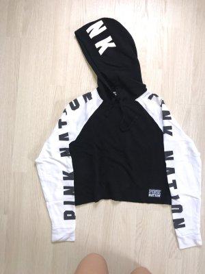 Pink Victoria's Secret Pull à capuche noir-blanc
