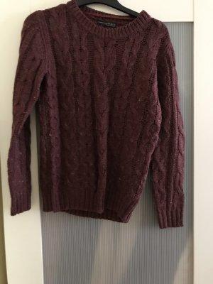 Primark Wool Sweater brown red-bordeaux