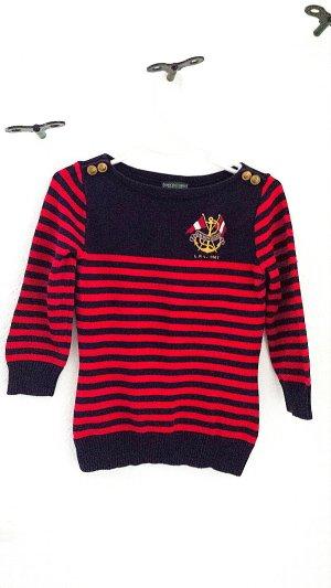 Pullover von Ralph Lauren, blau/rot, Gr. 34