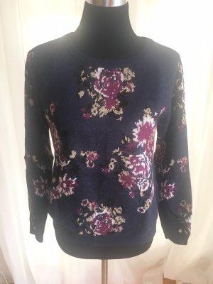 Pullover von s'Oliver in Blau-Bordeaux-Lurex