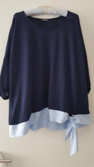 Samoon Kraagloze sweater veelkleurig