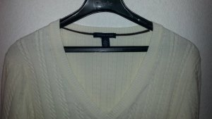 Tommy Hilfiger V-Neck Sweater natural white cotton