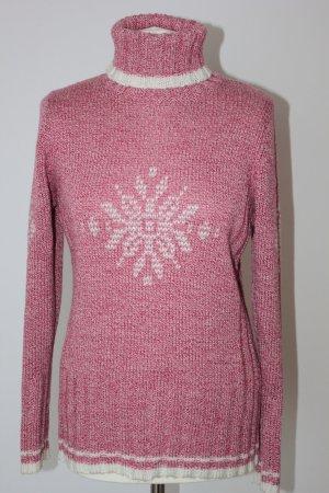 Pullover von  TCM Strick melange rot/weis Woolemischung TCM Gr. 40/42