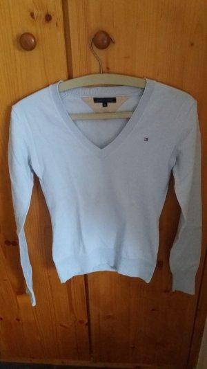 Tommy Hilfiger V-Neck Sweater light blue cotton