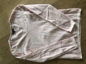 Tommy Hilfiger Jersey con cuello de pico rosa-rosa claro