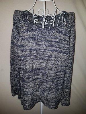 Pullover von Vero Moda, dunkelblau/weiß meliert Gr. 40