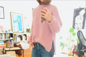Weekday Long Cardigan light pink-pink