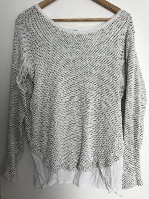 Zara Knitted Sweater oatmeal-white