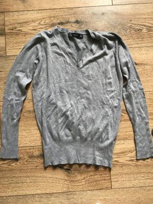 Zara Pull col en V gris