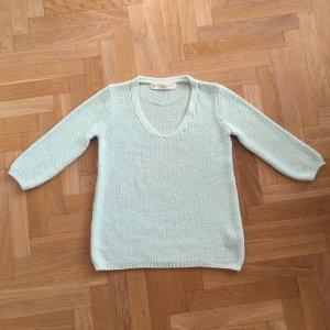 Pullover von Zara Knit in hellgrün / mint, Gr S