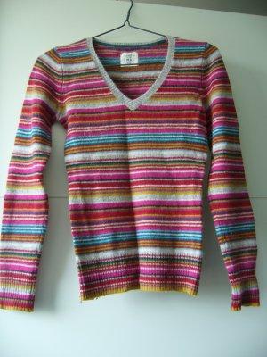 Pullover warm bunt gestreift H&M XS 34