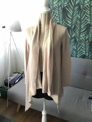 Pullover Wasserfall Puder beige 36 S Cardigan