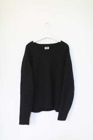 Pullover Weekday dunkelblau/schwarz Gr. M oversized Strickpullover