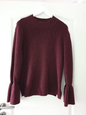 Jersey de lana burdeos