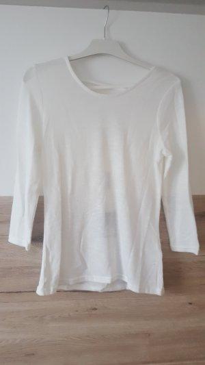 Pullover weiß 3/4 Arm Gr M