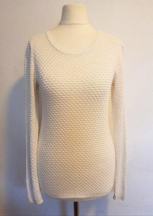 Maglione girocollo bianco-bianco sporco Viscosa