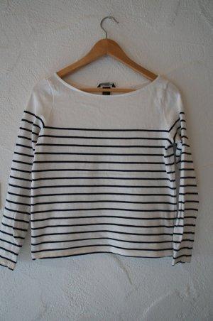 Pullover weiß mit schwarzen Streifen H&M Größe XS