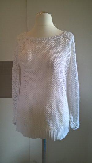 Pullover weiß reine Baumwolle