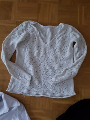 Coarse Knitted Sweater white