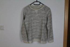 Pullover weiß schwarz